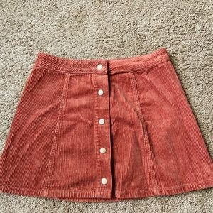 Corduroy high waisted skirt,in good condition